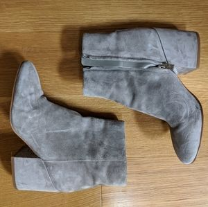 Sam Edelman suede grey ankle boots